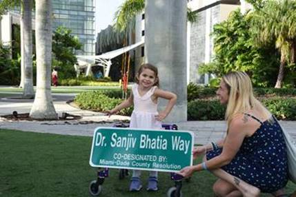Nicklaus Children's Hospital honors late Dr. Sanjiv Bhatia with street dedication