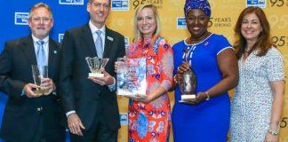 Outstanding Youth Award honoree Jazmin Neadle displays her award.