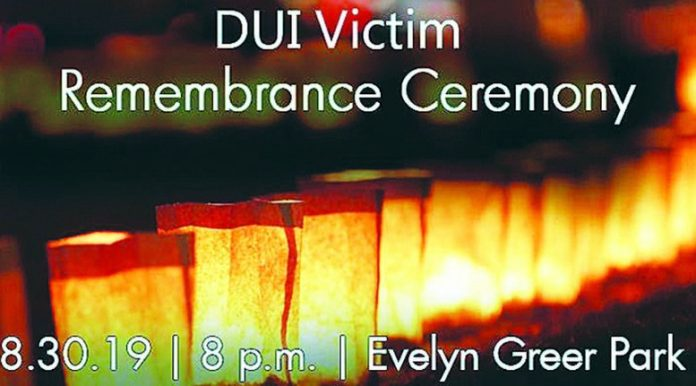 Remembrance Ceremony to be held During Police DUI Enforcement Event