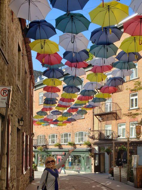 Quebec City umbrella installation similar to recent one in Gables