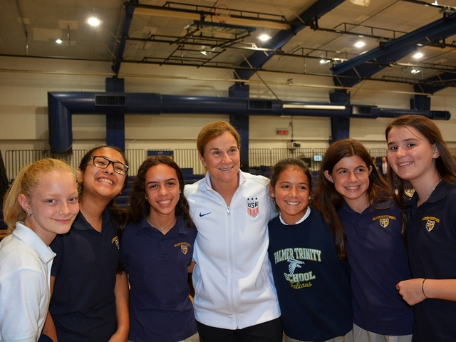 Palmer Trinity hosts FIFA Women's World Cup champion coach Jill Ellis
