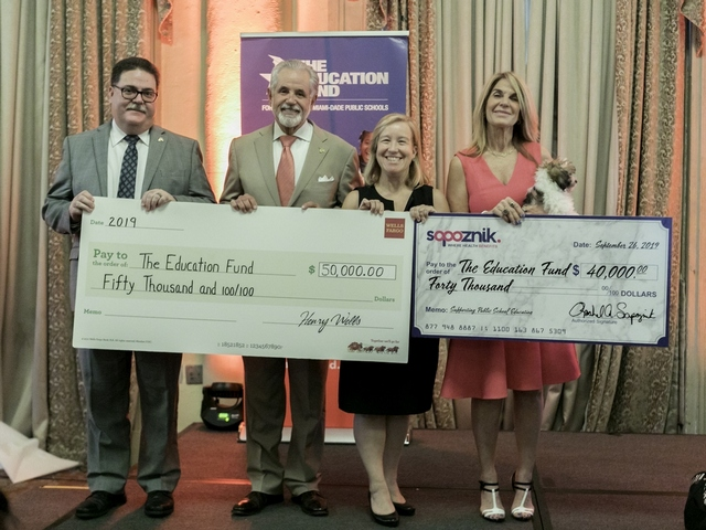 The Education Fund receives two donations
