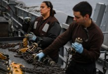 Miami Sailor performs duties aboard Navy aircaft carrier