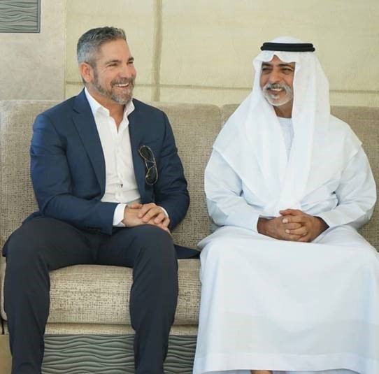 Grant Cardone meets with His Excellency Sheikh Nahyan bin Mubarak