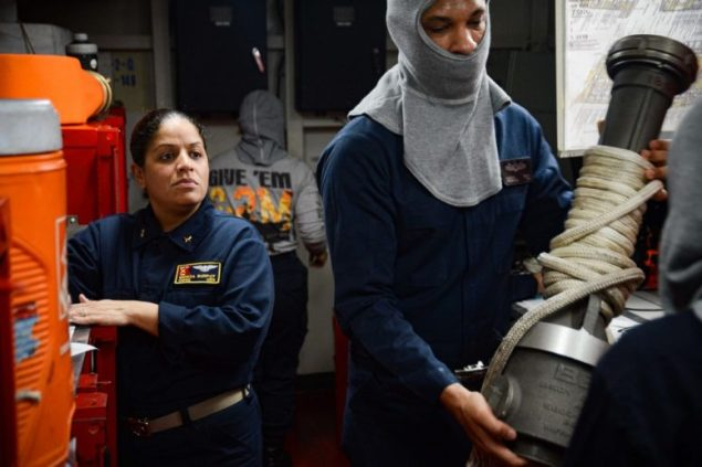 CWO from Miami serving aboard aircraft carrier
