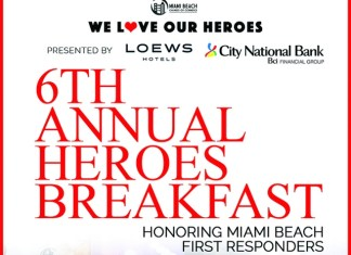 Miami Beach Chamber of Commerce Honored Local Miami Beach Heroes on Valentine's Day