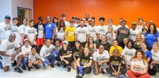United Way volunteers pitch into honor Martin Luther King Jr.