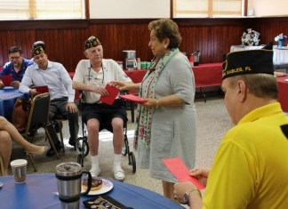 U.S. Rep. Donna E. Shalala visits American Legion Gables Post 98
