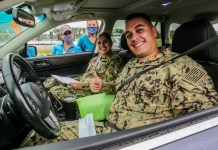 Mission United and Miami Dolphins host 'drive-thru' baby shower for vet moms
