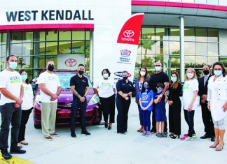 Bean Automotive Group and West Kendall Community Business Partners team up to help family through pandemic