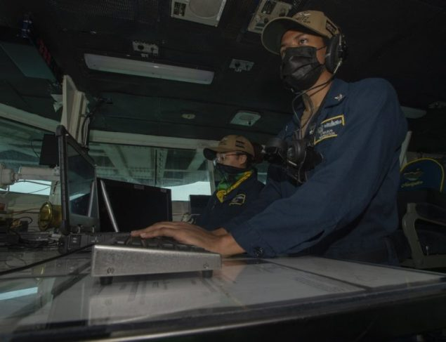 Miami Sailor serving aboard U.S. Navy aircraft carrier