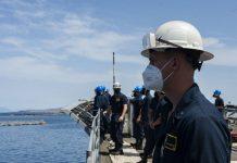 U.S. Navy officer serving aboard cruiser in the Med