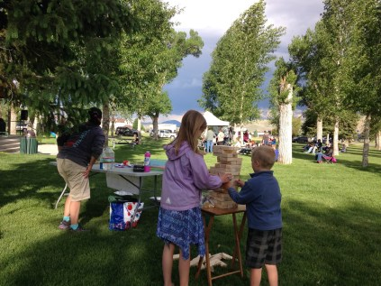 Giant Jenga is a real hit with Gunnison's youth