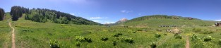 Trail to Meridian Lake in Crested Butte, CO