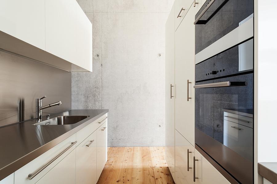 brighten up your windowless galley kitchen