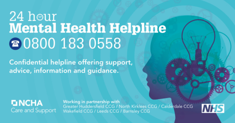 24 hour mental health helpline and free training