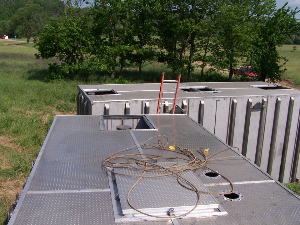stainless wastewater treatment tank from on top