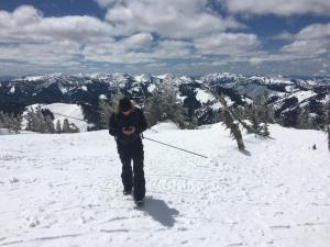 logging a snow measurement on a phone