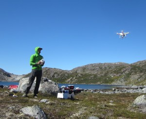 aaron hartz with drone