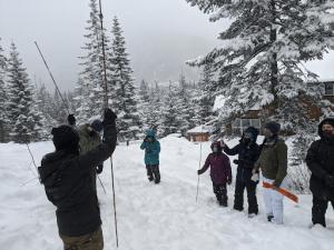 snow probe demonstration