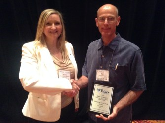 Teresa Smith-DeHesus, President AZWater and Marc Levesque, Community Water Company of Green Valley, accepting 2014 AZWater Operator of the Year Small Systems