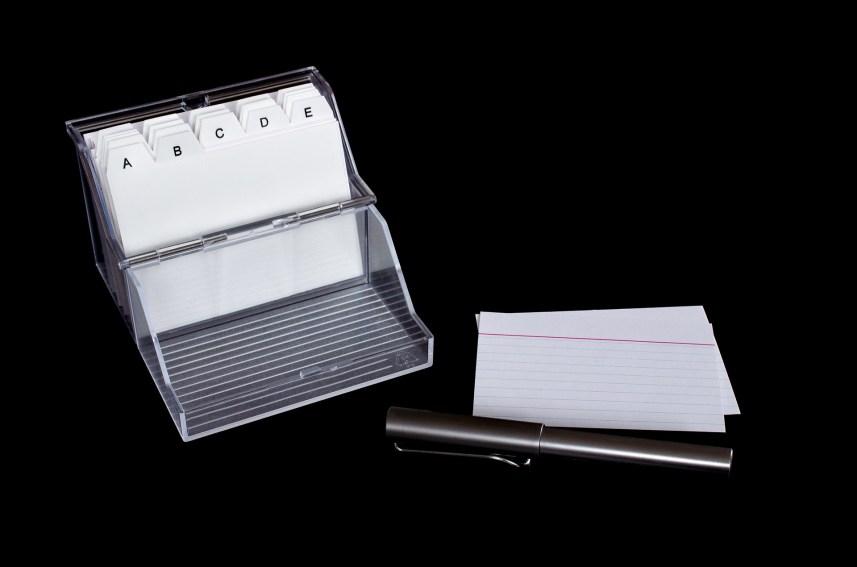 index card box