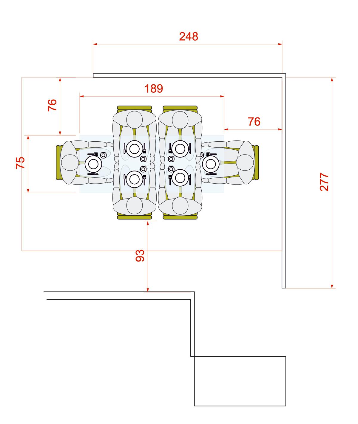 Medidas para mesa de comedor para 6 personas circular o