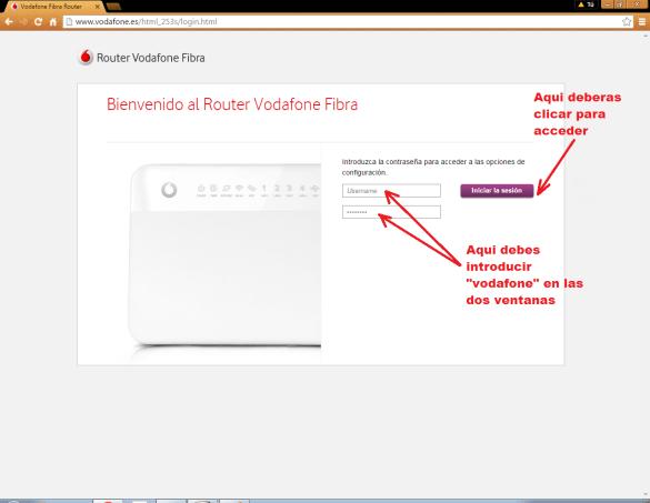 Cómo cambiar contraseña Wifi Vodafone