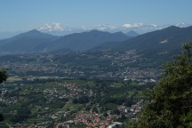 View to Monte Rosa from Morbio Superiore
