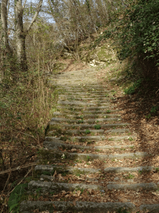 Stepped path down to Torno