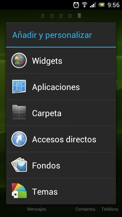 Crear carpetas en Android desde el menu