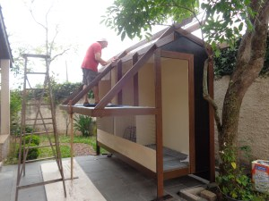 Preparando o telhado