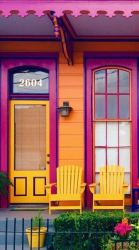 casas naranja colores orleans exterior colors exteriores paint pintura louisiana casa morado verde houses colorful homes fachadas bright decorar forma