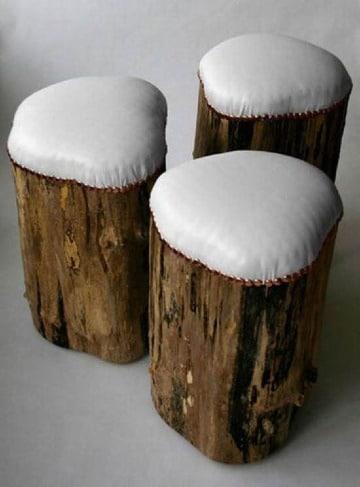 Ideas para construir muebles con troncos de madera