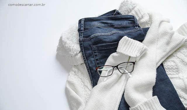 Como fazer descarte de blusas e calças de lã
