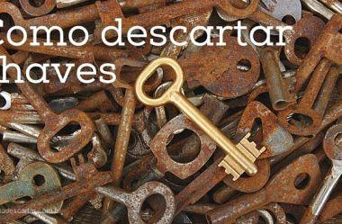 Como descartar chaves de metal