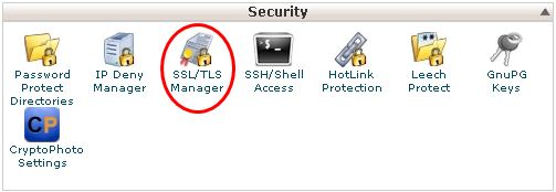 SSL/TLS Manager - WHM/Cpanel