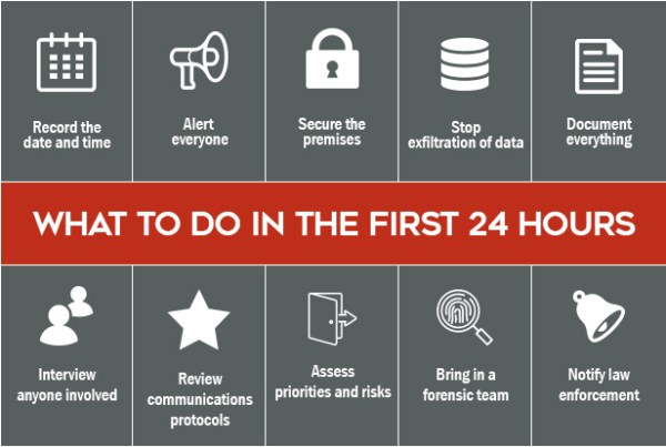 What to do in the first 24 hours