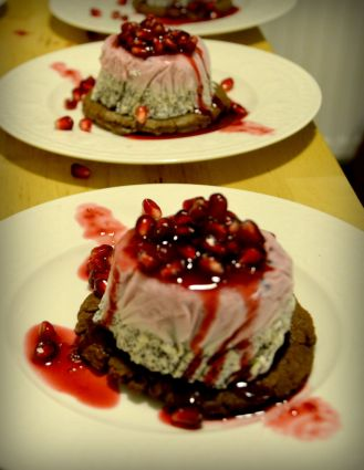 Volcano with Pomegranate syrup