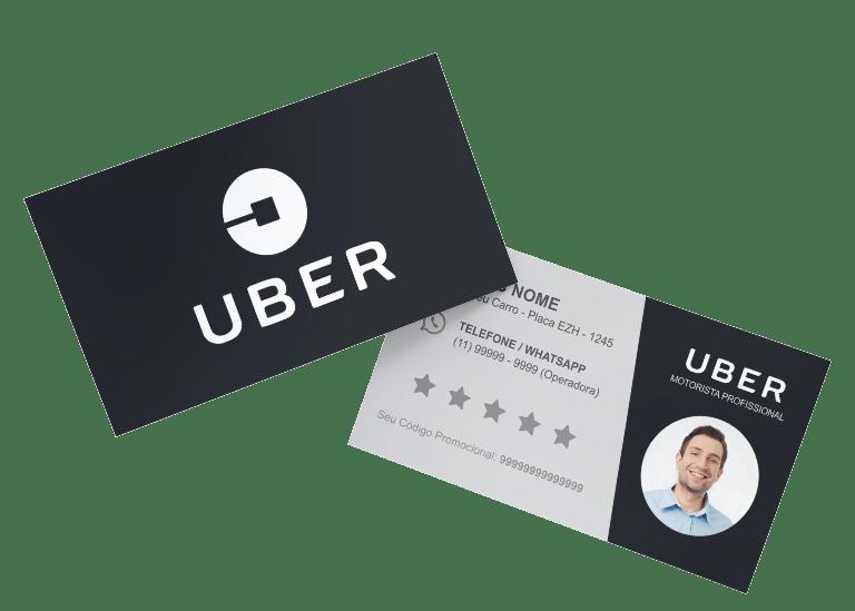 cartão de visita uber modelo 01