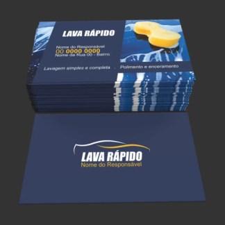 Cartão de Visita Lava Rapido Modelo 01