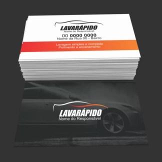 Cartão de Visita Lava Rápido Modelo 02