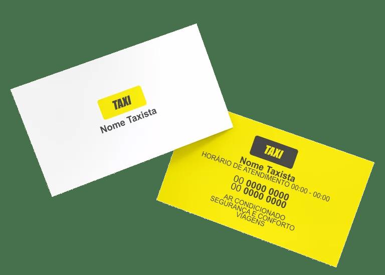 Cartão de Visita Taxista Modelo 02