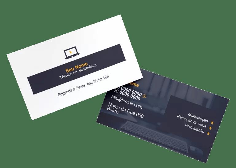 Cartão de Visita Técnico em Informática Modelo 01