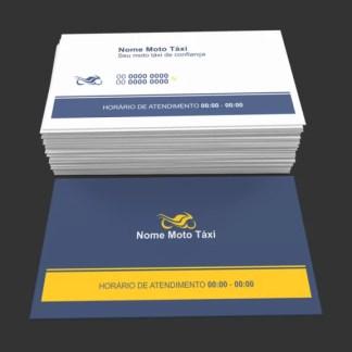 Cartão de Visita Moto Táxi e Motoboy Modelo 01