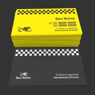 Cartão de Visita Moto Táxi e Motoboy Modelo 02