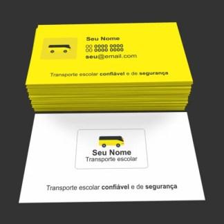 Cartão de Visita Transporte Escolar Modelo 01