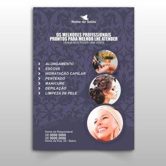Panfleto Salão de Beleza - Modelo 03