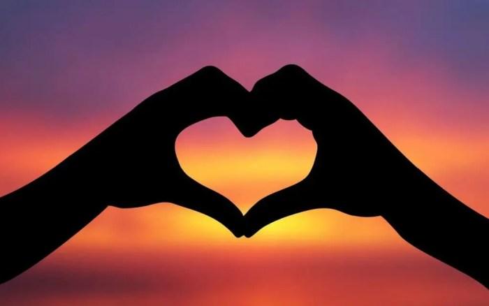 Las dos manos unidas pueden formar la silueta de un corazón
