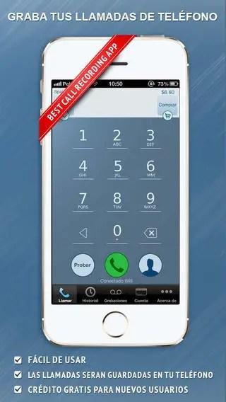 IntCall hace llamadas vía Internet y las graba en el teléfono.